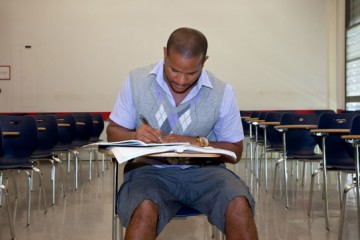 Chad Carroll is an older student at Miami-Dade College. (Photo by Sagette Van Embden.)