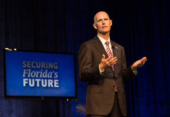 Gov. Rick Scott is seeking out $500 million in tax cuts for the upcoming budget. (Photo  via FlGov.com)