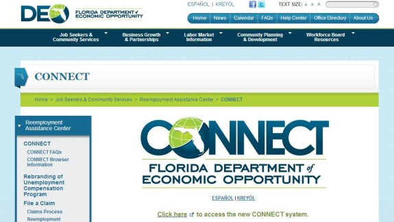 Federal officials intervene during Florida's unemployment benefits troubles.