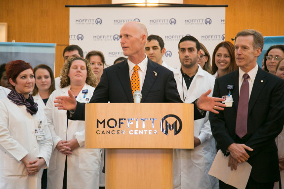 Gov. Rick Scott's vocal support for Medicaid expansion is waning. (Photo via FlGov.com)