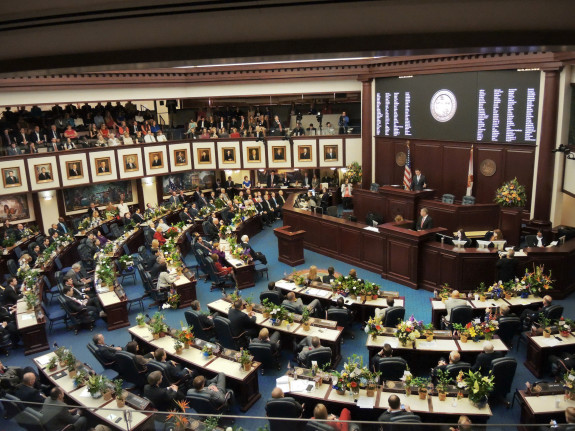 The Florida House passes a contentious gun bill expanding conceal and carry rights during emergencies and riots. (Via MyFloridaHouse.gov)