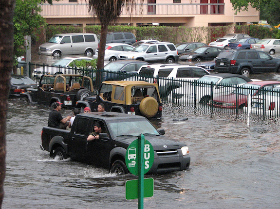 Flooding in Miami Beach and across the country put climate change back into national debate. (Photo maxstrz/Creative Commons)