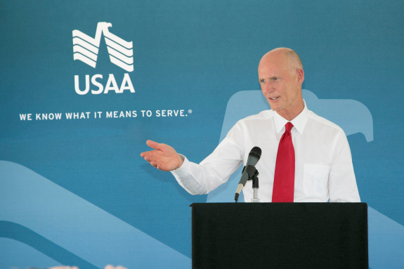 An ethics complaint was filed against Gov. Rick Scott for a past investment in a company that had dealings with a state agency. (Photo via Flgov.com)