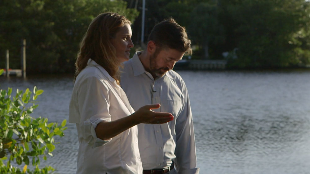 Bethany and Sean Quinn live across from the St. Lucie River, which they believe is too polluted to use.